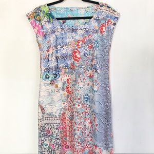 | Johnny Was | printed short sleeve dress